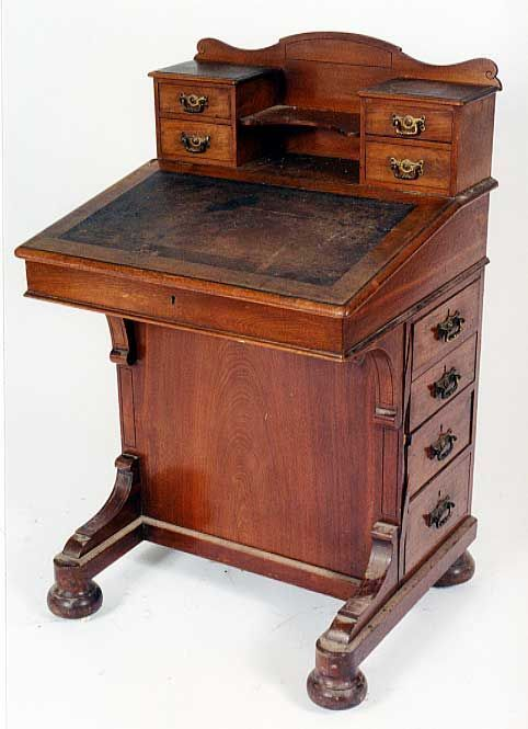 Ship Captain's Desk: - Ship Captain's Desk: FURNITURE: Biedermeier, French Empire