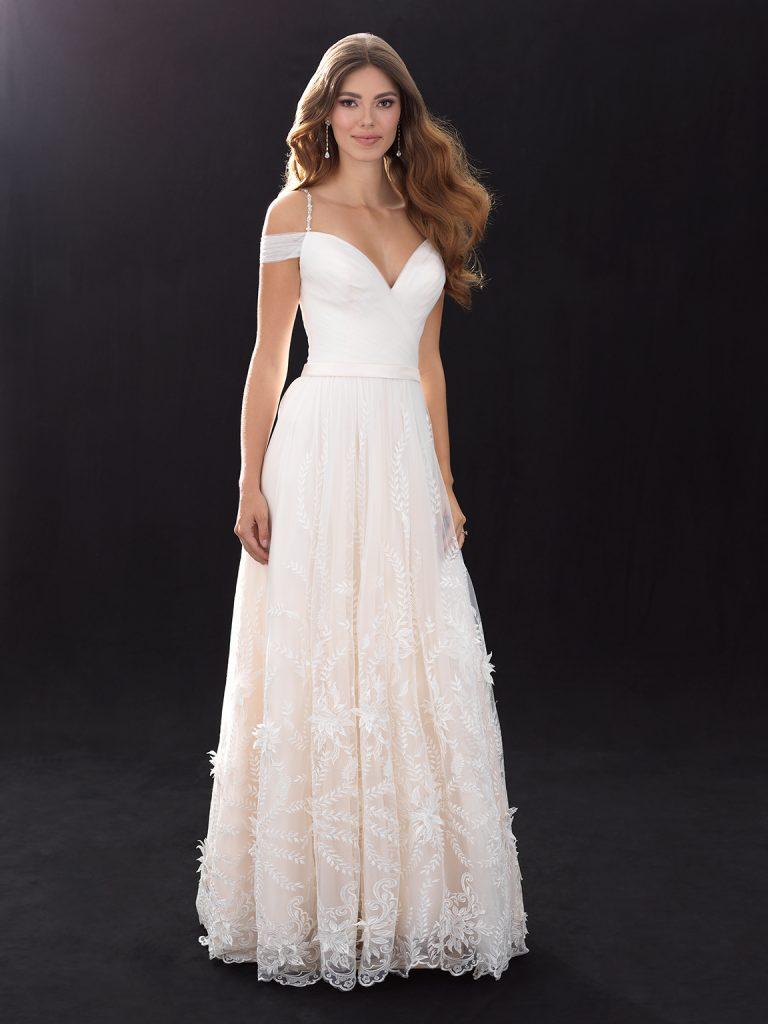 Bohemian Aline Wedding Dress Kleinfeld Bridal Madison