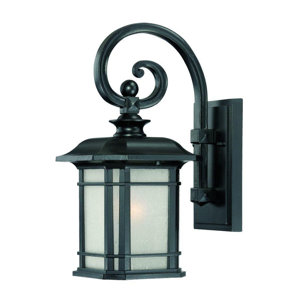 Acclaim Lighting Somerset Collection 1 Light Matte Black Outdoor