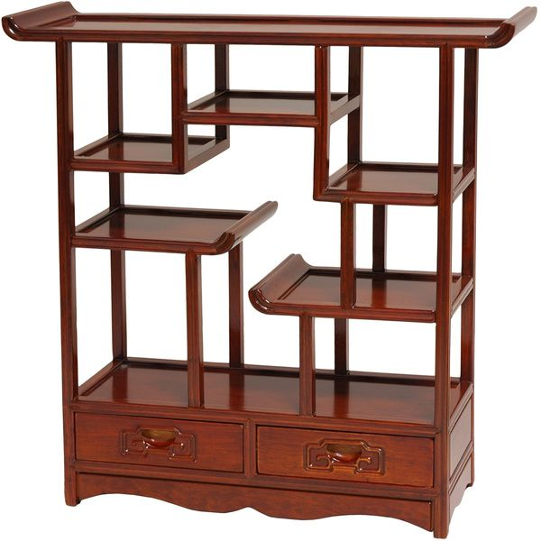 Japanese End Table Wood Accent Stand Modern Lamp Furniture: Handmade Oriental Netsuke 20-inch Wooden Display Stand