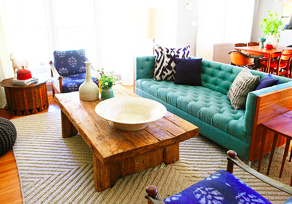 Luscious couch and all-around beautiful room. - Emily Henderson