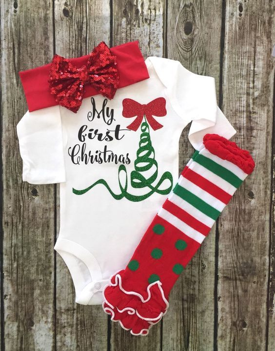 344faaa5c My First Christmas, Babies First Christmas Onesie | Baby | Baby girl ...