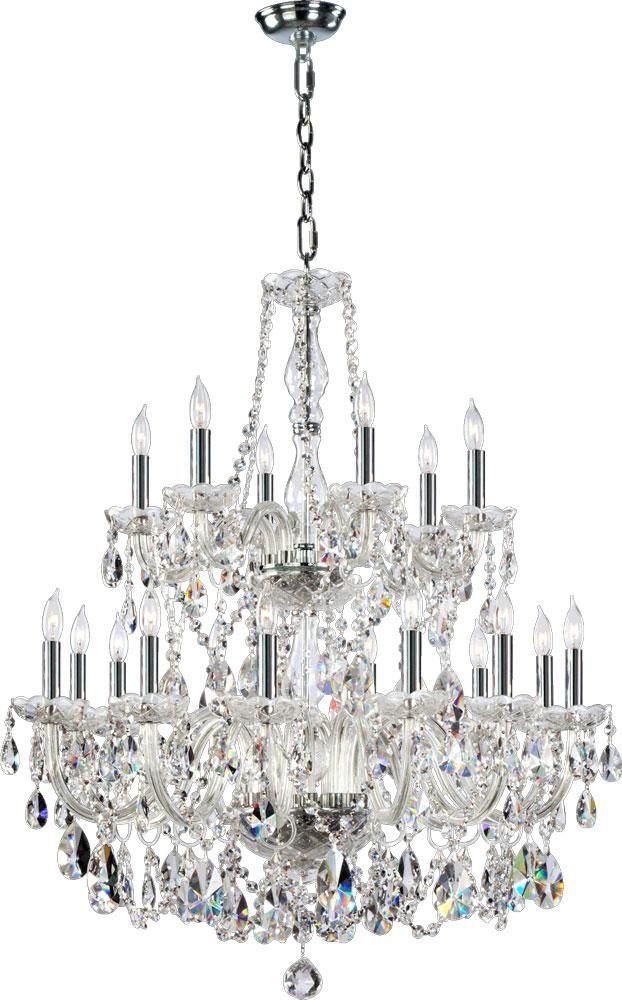 Katerina Chrome Crystal 18 light Chandelier