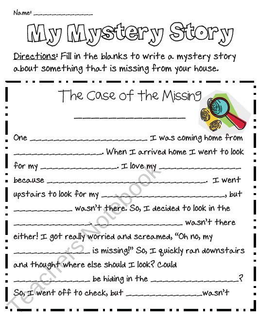 My Mystery Story From Mrs Jacobs Class On TeachersNotebook.com (2 Pages)  Teaching Writing, Mystery Writing, Writing Templates