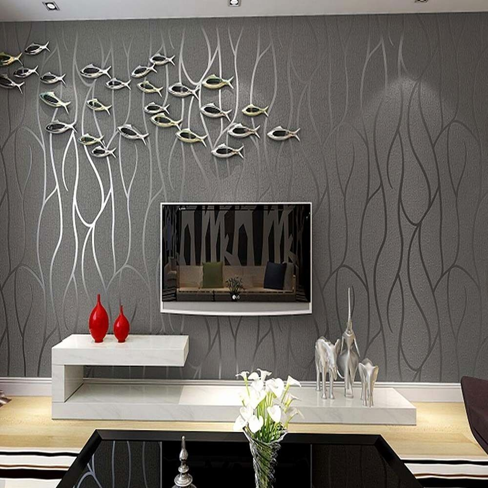 Moderne Wandgestaltung Wohnzimmer in 10  Tapeten wohnzimmer