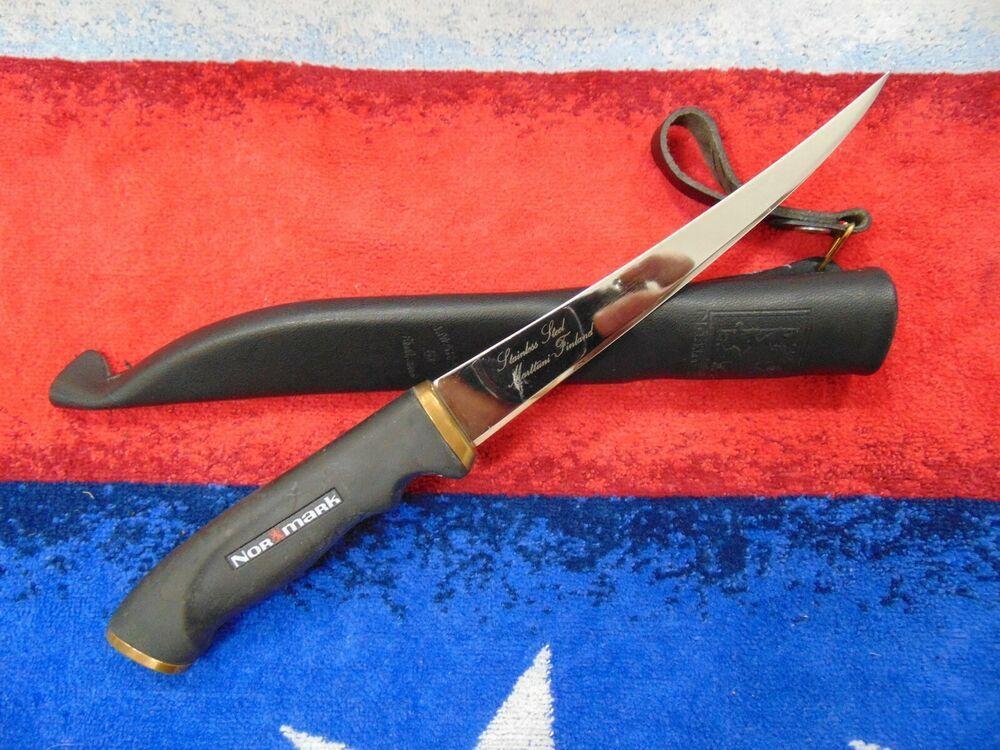 Ad(eBay) VINTAGE 1988 NORMARK FINLAND FISH FILLET KNIFE W