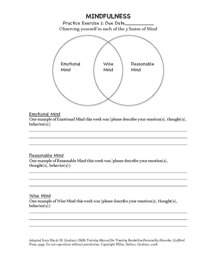 Workbooks dialectical behavior therapy skills workbook : Dialectical-behavior-therapy-worksheets & Full Size Of Worksheet ...