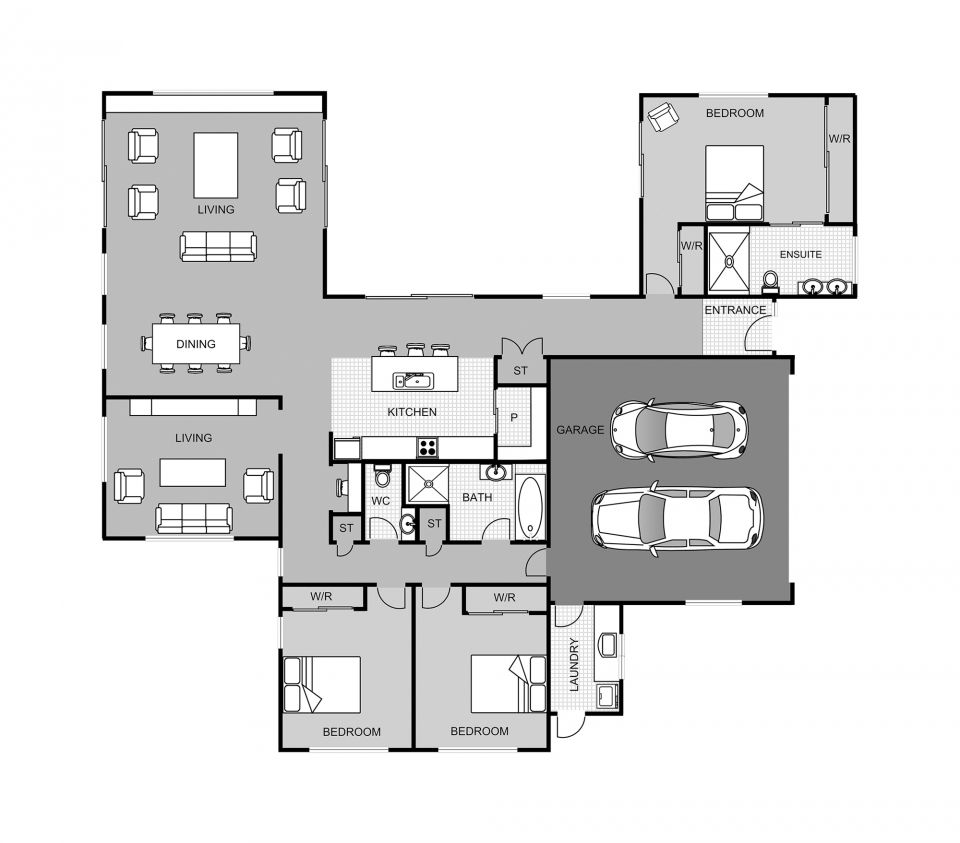 Maria Tini House Blueprints House Floor Plans House Layouts