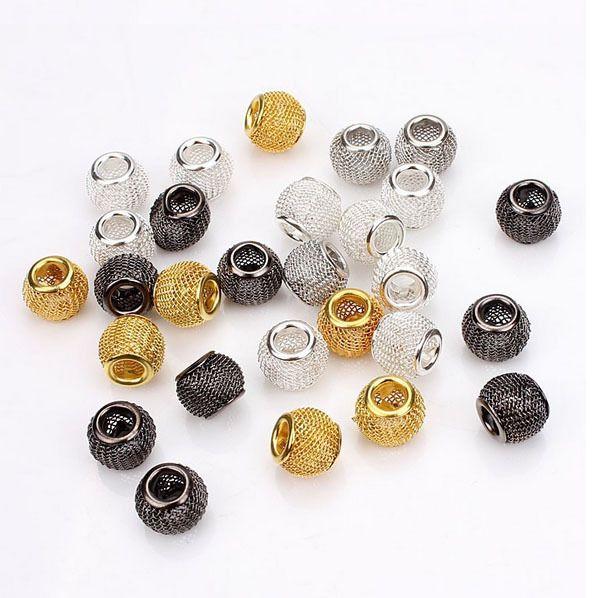 10 pcs/lote livraison gratuite grand trou évider métal Spacer perles Chunky perles bricolage bijoux dans Perles de Bijoux et Accessoires sur AliExpress.com | Alibaba Group