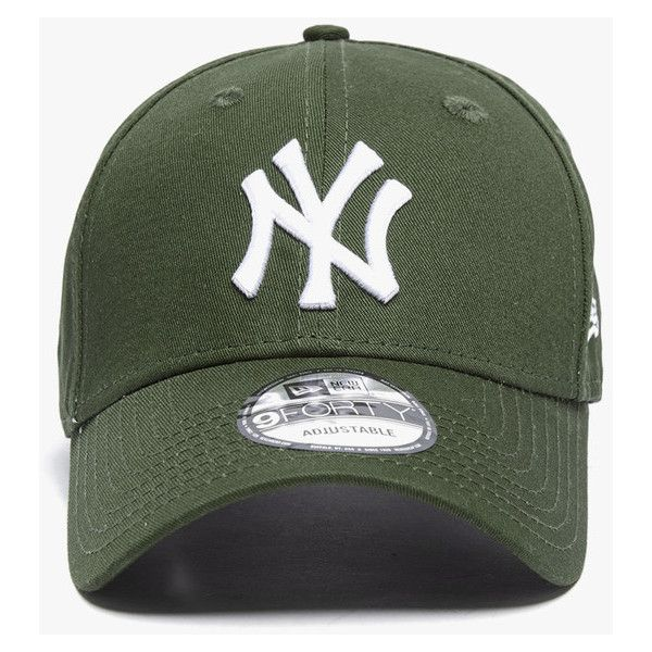 a5153502f9f New Era New York Yankees 9Forty Cap New Olive Black ( 35) ❤ liked on  Polyvore featuring accessories