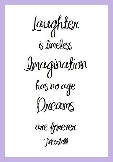 Laughter Imagination Dreams Tinkerbell Quote