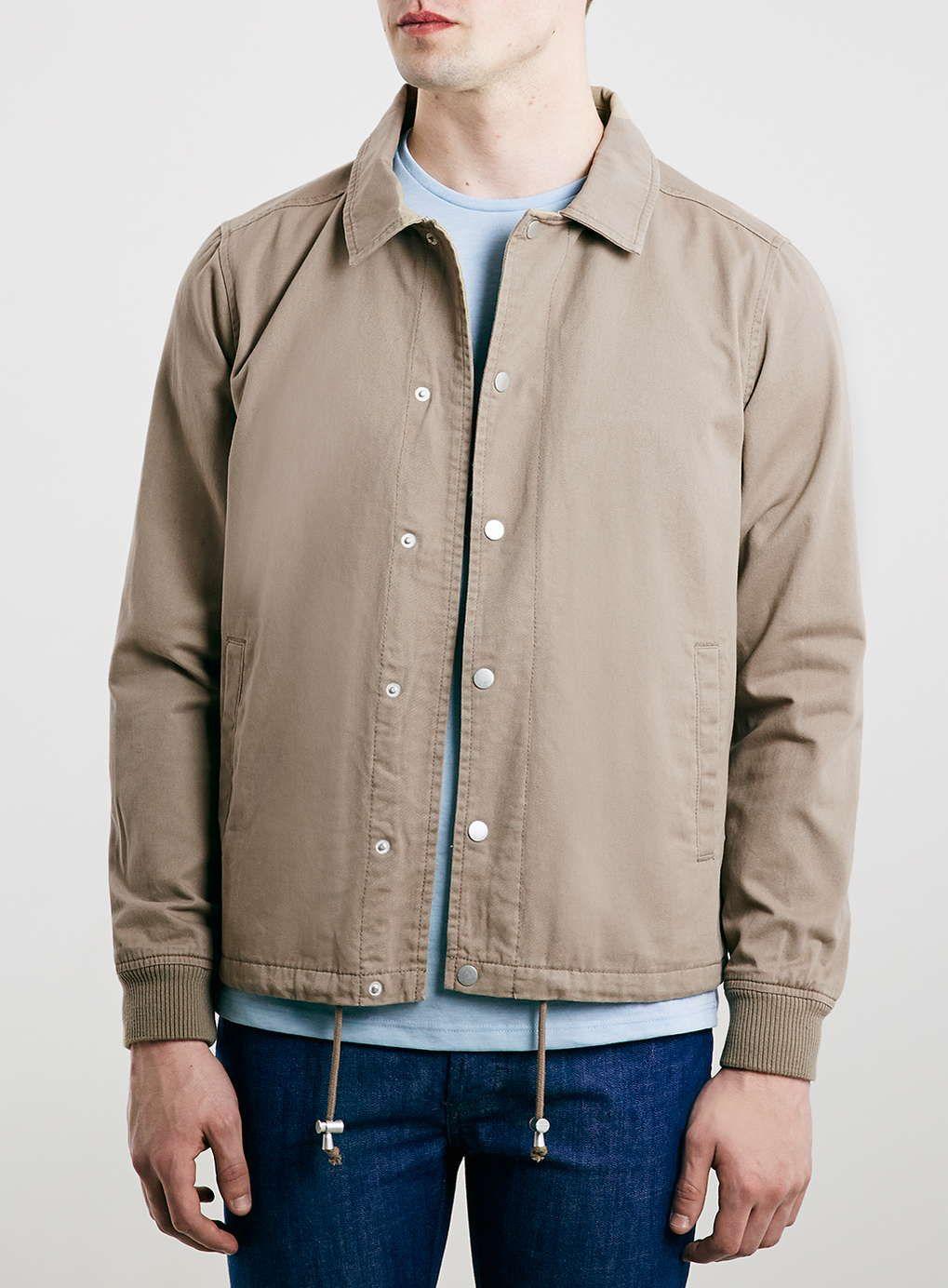 Mens jacket cotton - Stone Cotton Coach Jacket Men S Coats Jackets Clothing