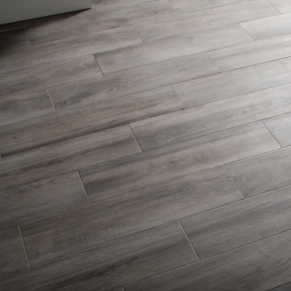 Daltile Evermore Shadow Wood 6 In X 24 In Porcelain