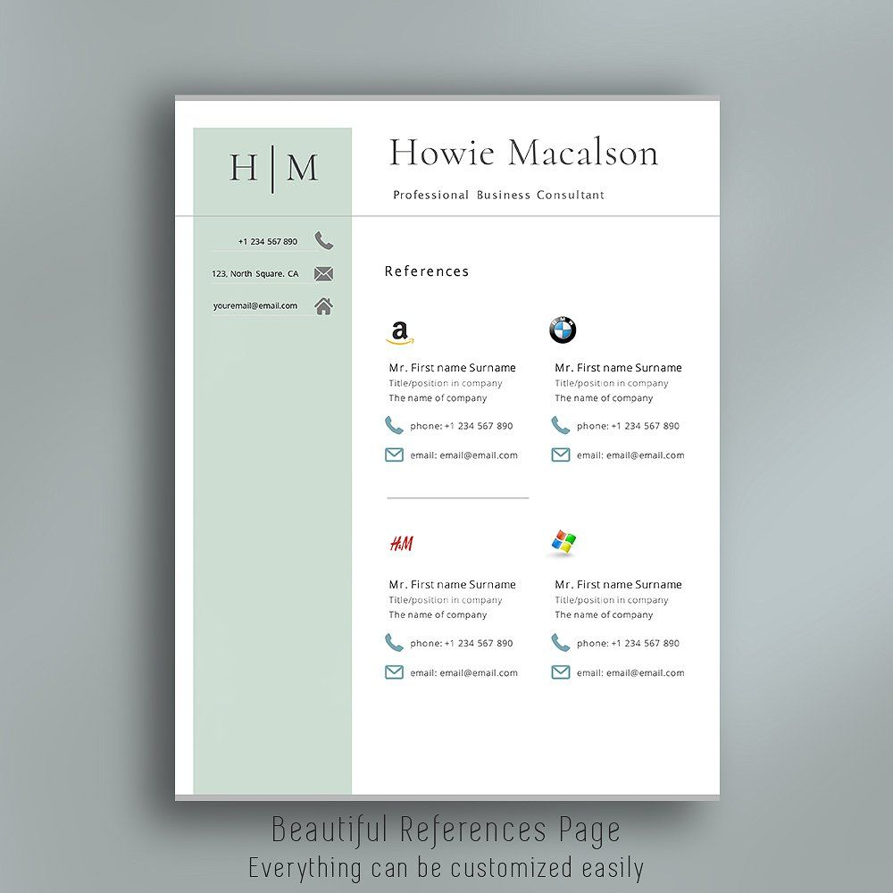 Resume Template With Logos Resume Template Resume Templates