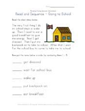 easy reading comprehension worksheet - next step | Too Cool For ...