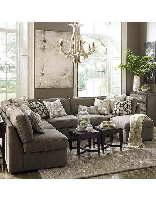 Large sectional sofa in small living room | Разделение ...