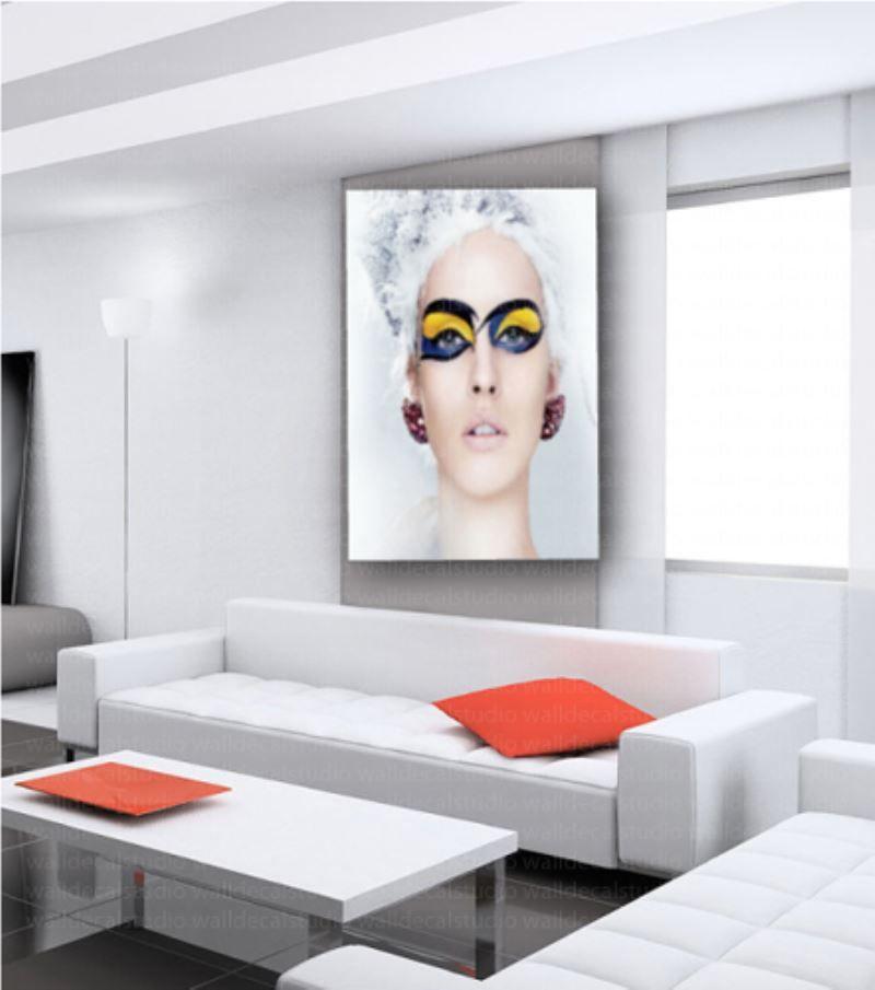Modern Make Up Blonde Face Canvas Wall Art Decor