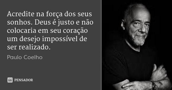 Desconhecido Frases Sonhos Realizados Frases De Paulo Coelho E