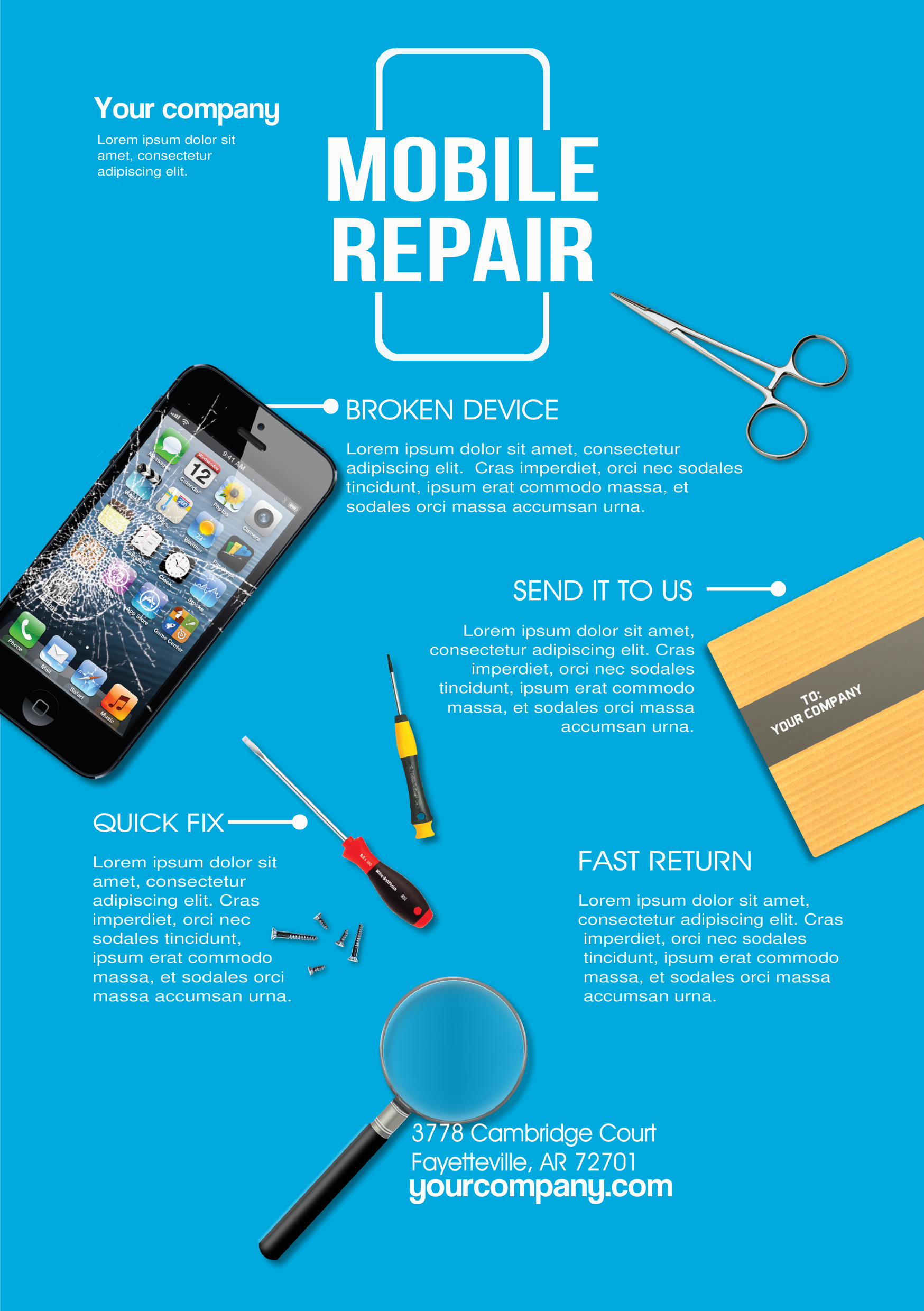 Mobile Phone Repair A Promotional Flyer HttpPremadevideosCom