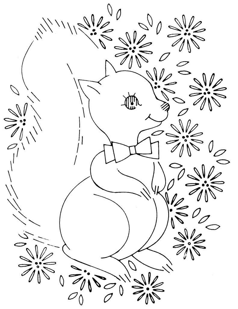 baby quilt laura wheeler squirrel 761 | Baby Stuff to Make ...