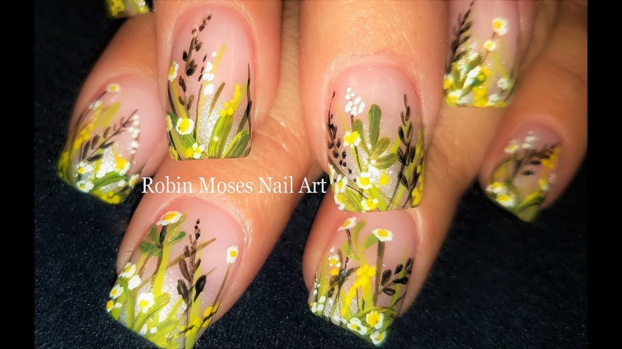 Wild flower nails hand painted spring flower nail art design 2018 wild flower nails hand painted spring flower nail art design 2018 goat mightylinksfo