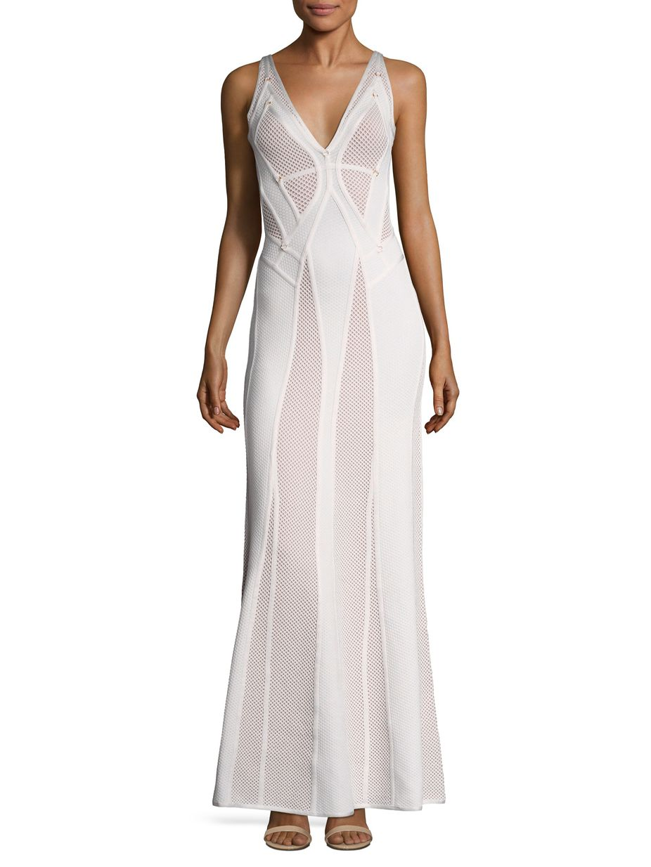 Herve leger pointelle embellished gown womenus fashion fall