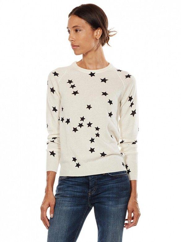 Equipment Sloane Crew Neck Sweater in star-print