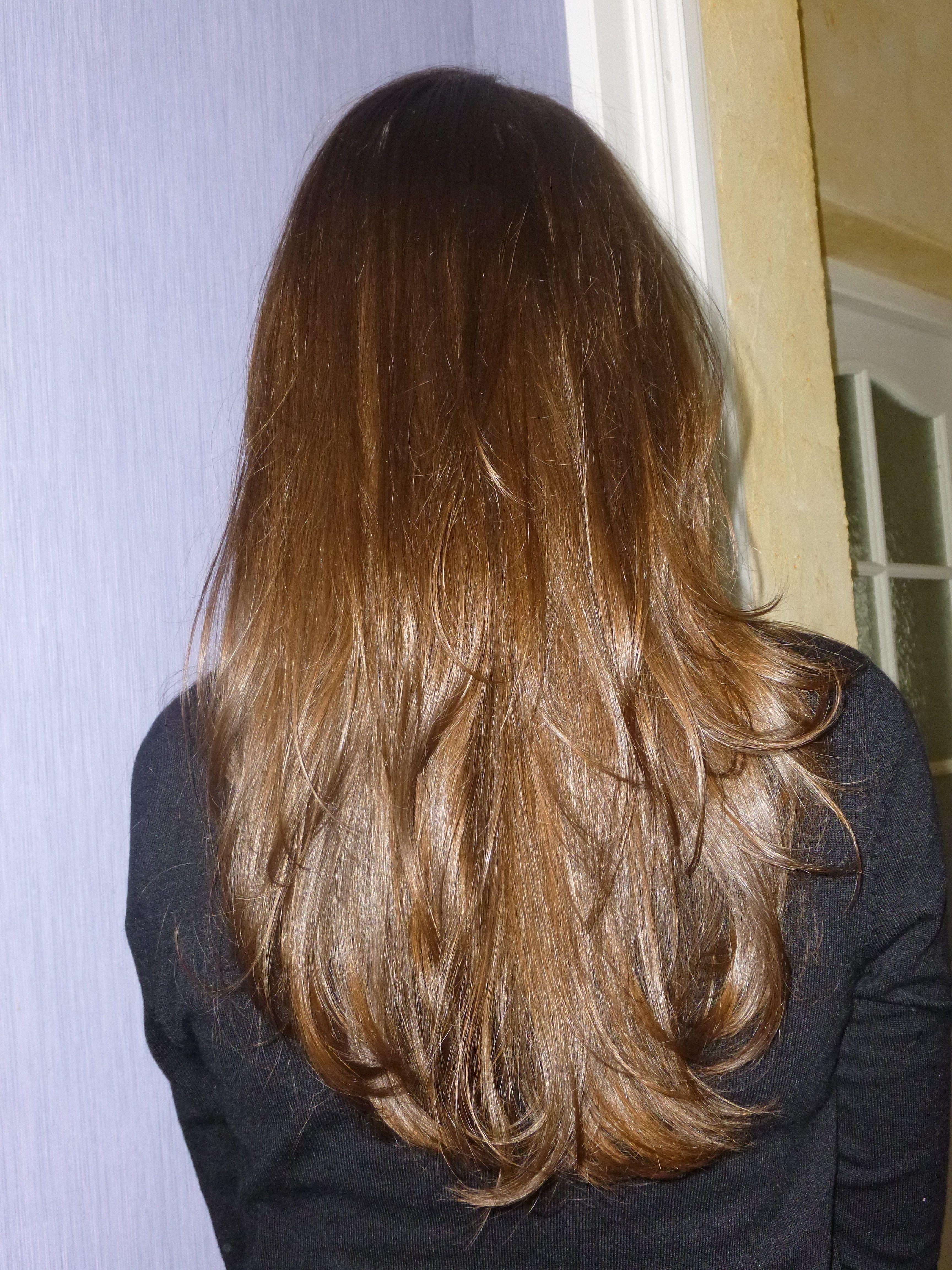 cheveux long dégradé dos coupe cheveux long Pinterest