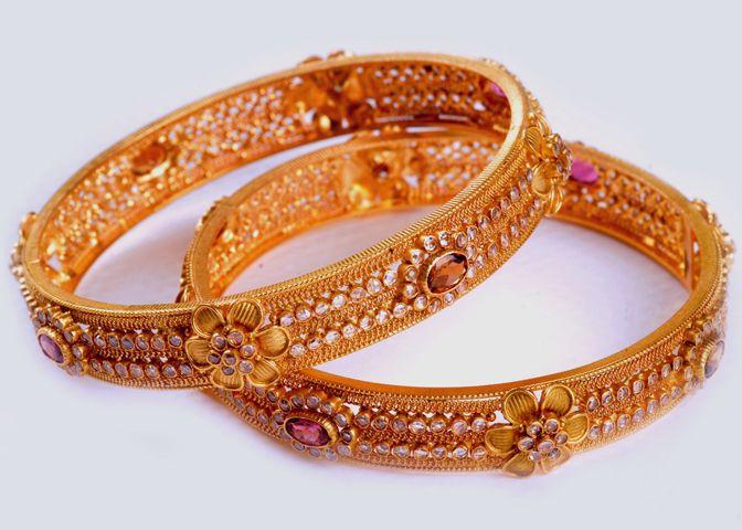Bangles Gold bangles kadas Bracelets Pinterest