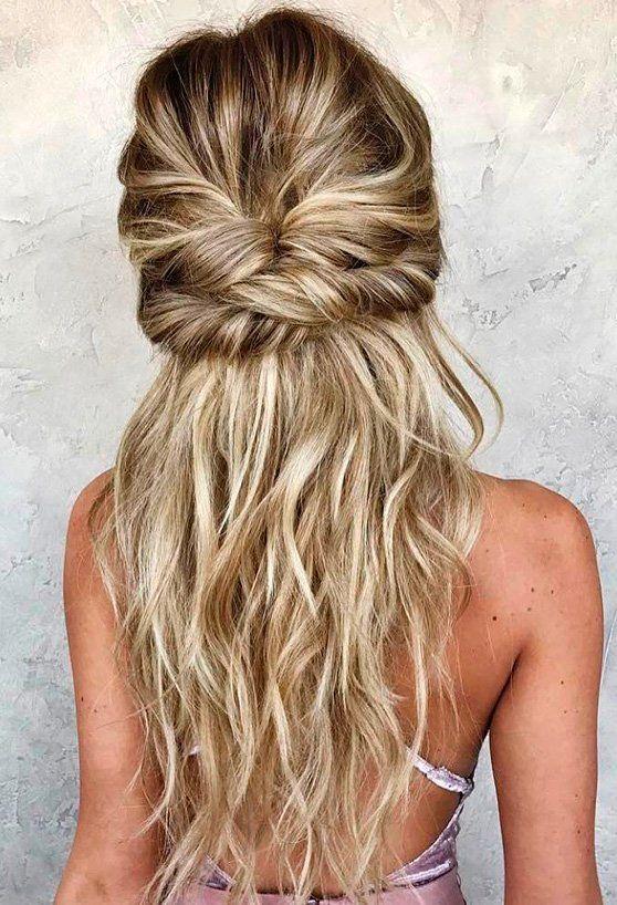 43 Peinados Para Damas De Honor E Invitadas De La Boda Peinados Pelo Largo Peinados Elegantes Y Peinados Con Trenzas
