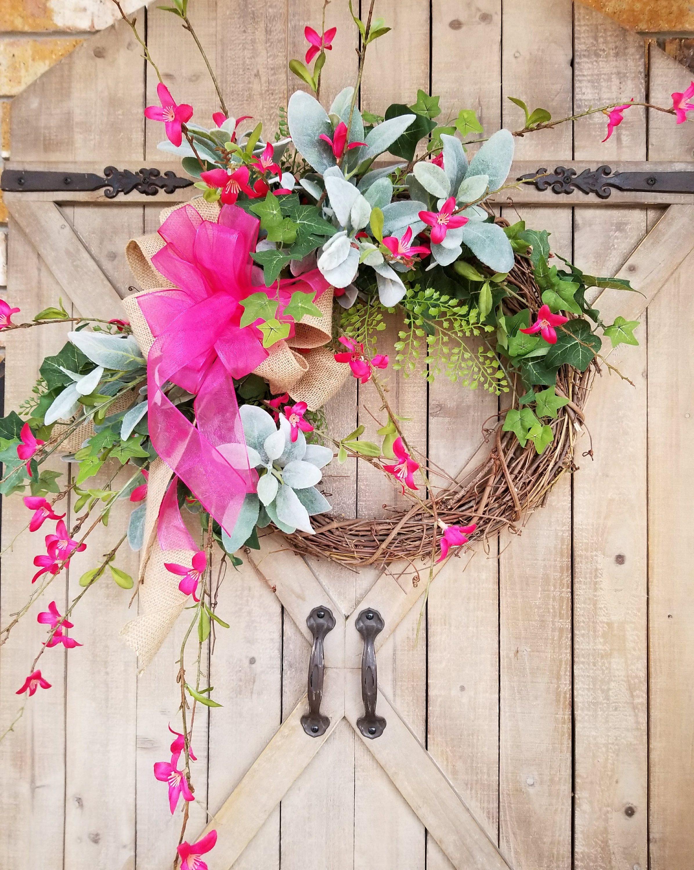 24 X 36 Spring Summer Front Door Wreath Door Wreaths