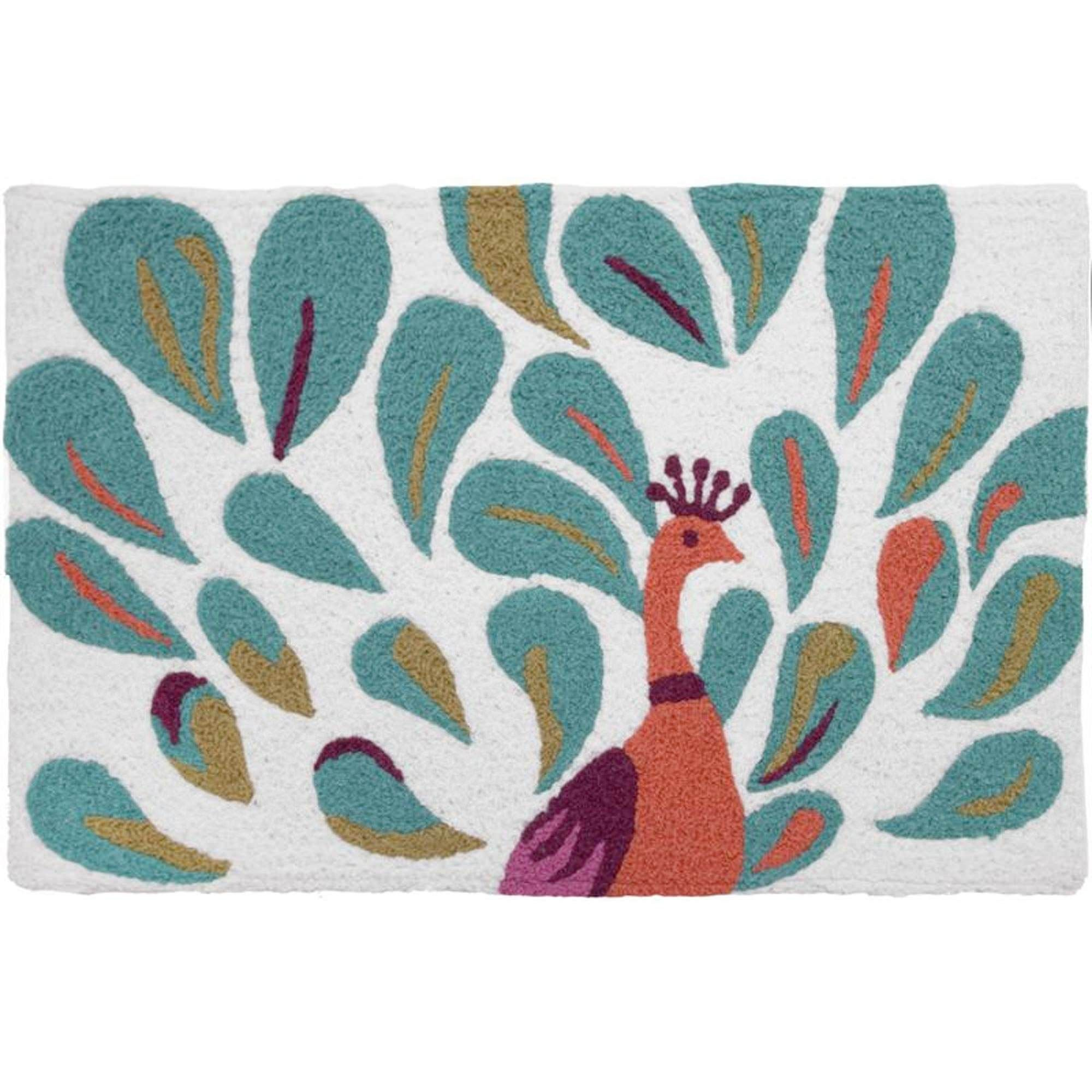 Jellybean Peacock Outdoor Door Mat Jellybean Sku Jb Sch001 Rugs Accent Rugs Rugs And Mats
