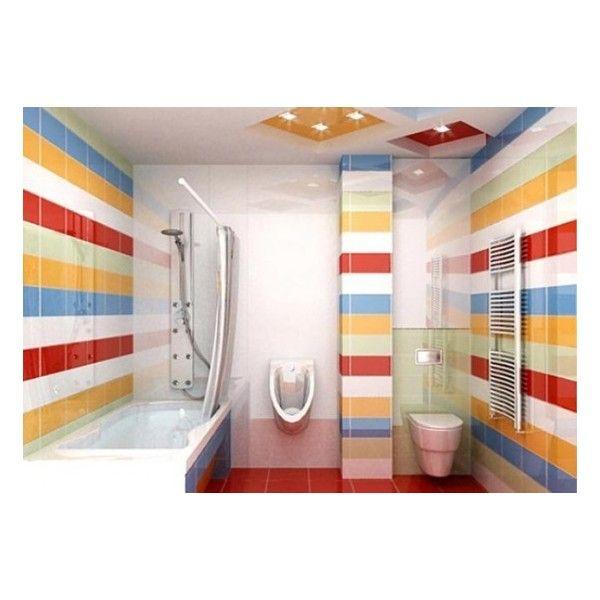 31 multi color tiled bathroom designs digsdigs found on polyvore - Multi Bathroom Design