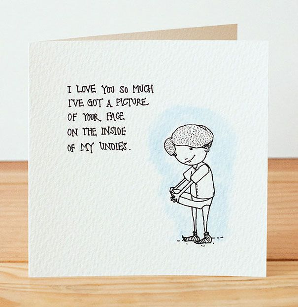 Creepily Hilarious Valentines Day Postcards Demilked   Corny Valentines Day  Cards