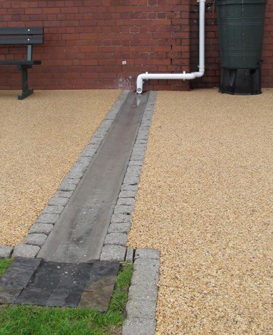 Downspout Disconnection Backyard Drainage Concrete
