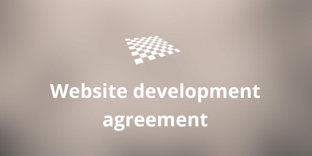 Website Development Agreement Template Httpdivendorblog