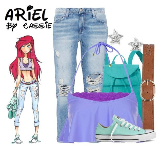 """High School Ariel"" by the-pastel-goth ❤ liked on Polyvore"