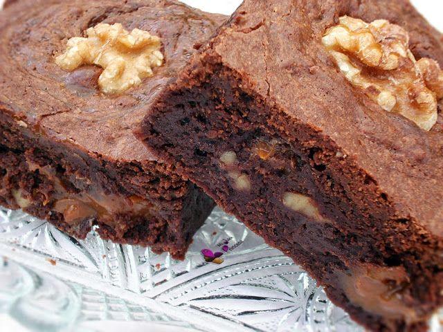 brownie, chocolate, dulce de leche, nueces, brownie con dulce de leche,