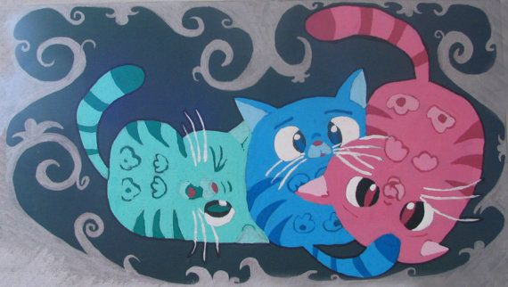 Three Little Kittens Painting Despicable Me Painting Sleepy