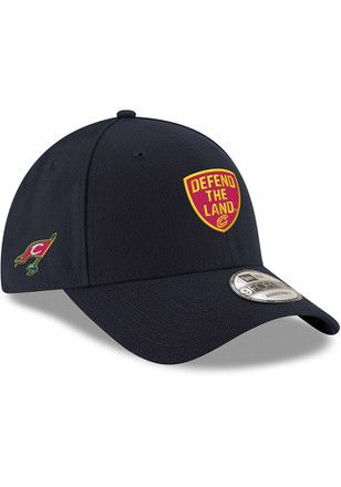 7e2c3913294 New Era Cleveland Cavaliers Mens Navy Blue Defend the Land 9FORTY  Adjustable Hat