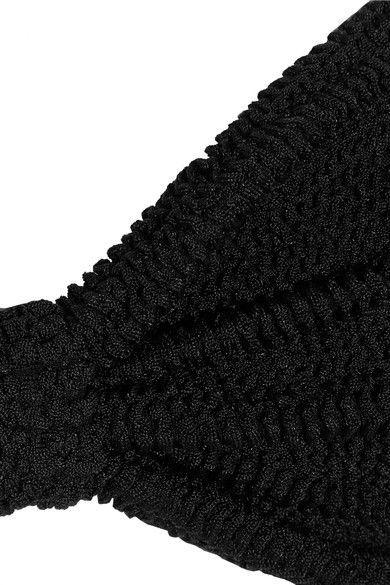 f712c42f0f397 HUNZA G - Jean Seersucker Bandeau Bikini - Black | Products | Hunza ...