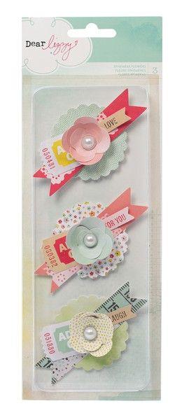 Dear Lizzy Neapolitan Ephemera Flowers Embellishments by American Crafts - Two Peas in a Bucket