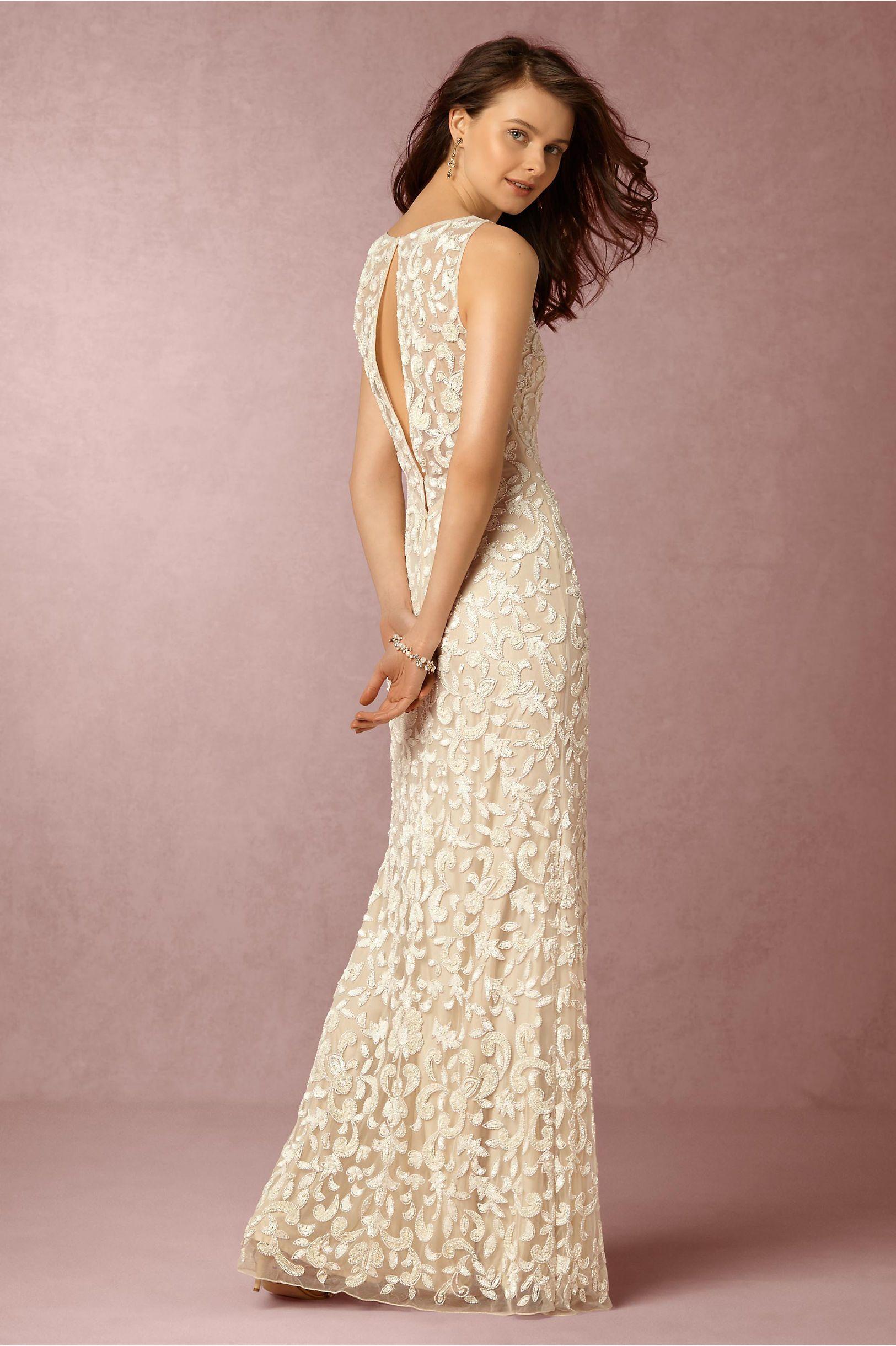 Bhldn meghan gown in bride wedding dresses back detail at bhldn
