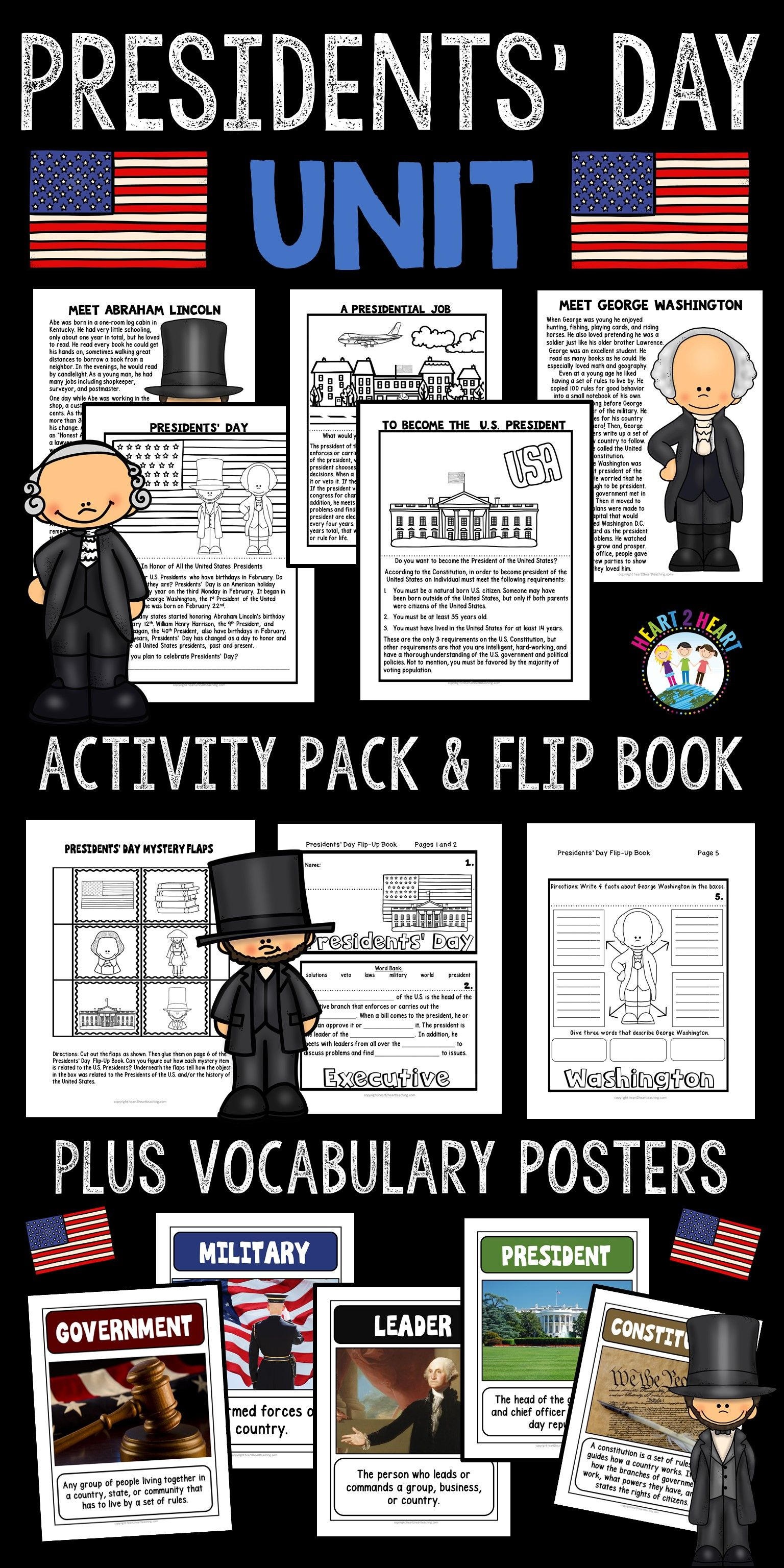 Presidents Day Activities Pack With Abraham Lincoln Amp George Washington Amp More