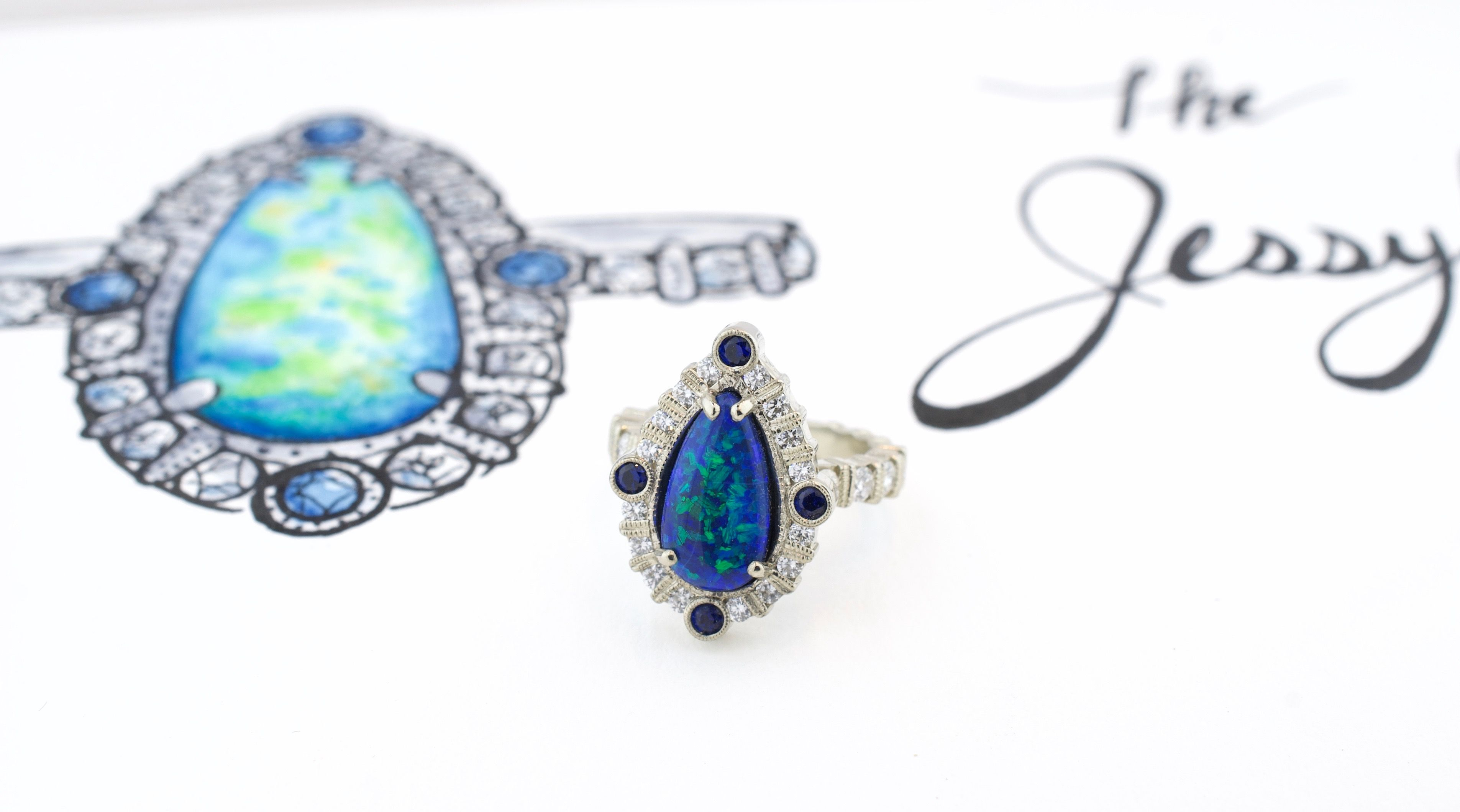 Black Opal Engagement Ring Engagement Rings Engagement