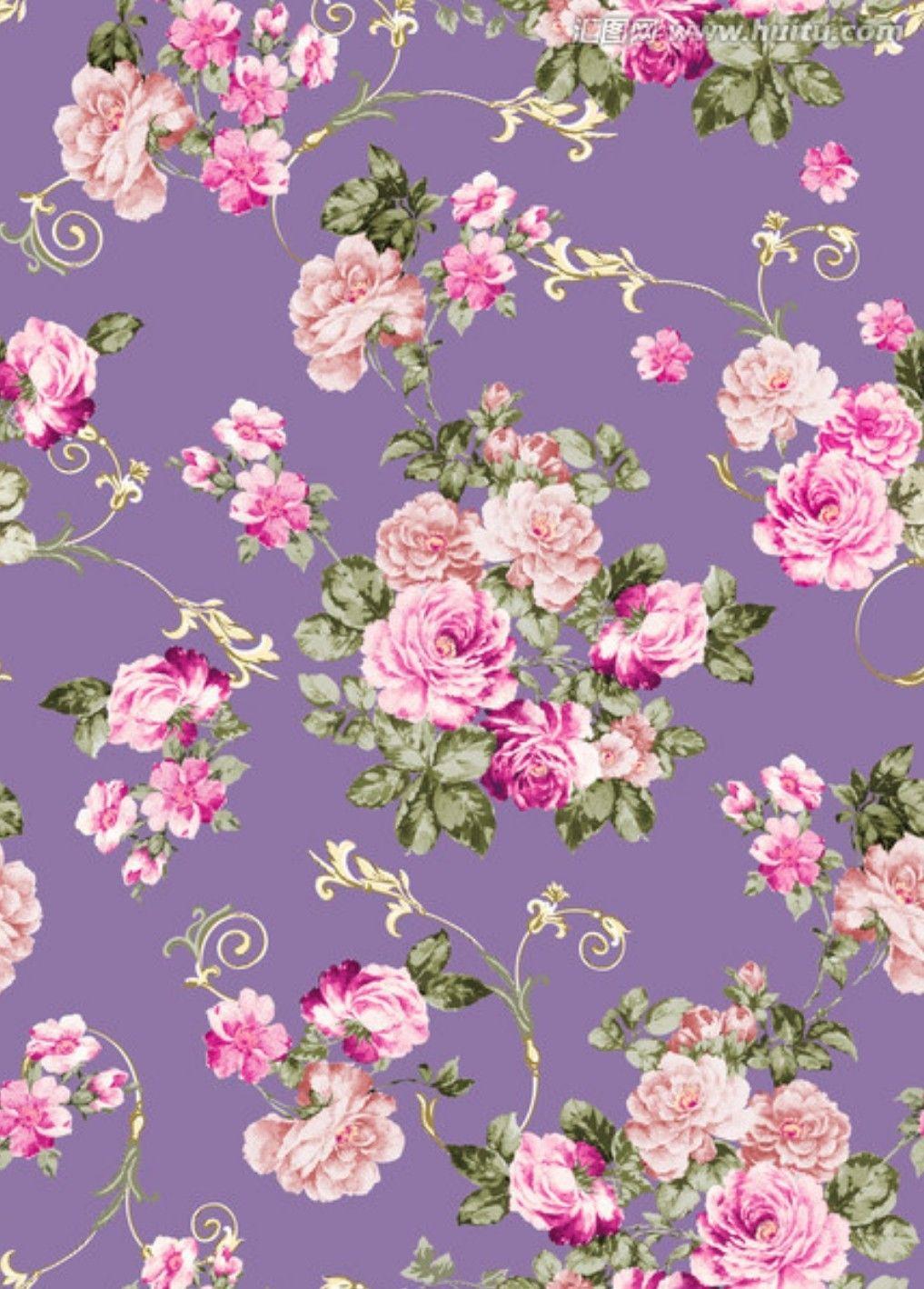 Flower Wallpaper Vintage