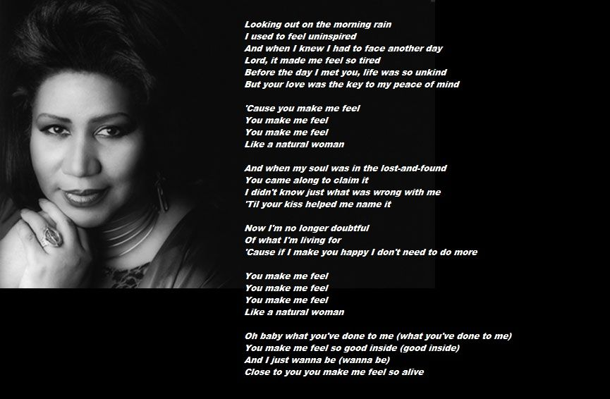 Bq Aretha Franklin Natural Woman Aretha Franklin Songs