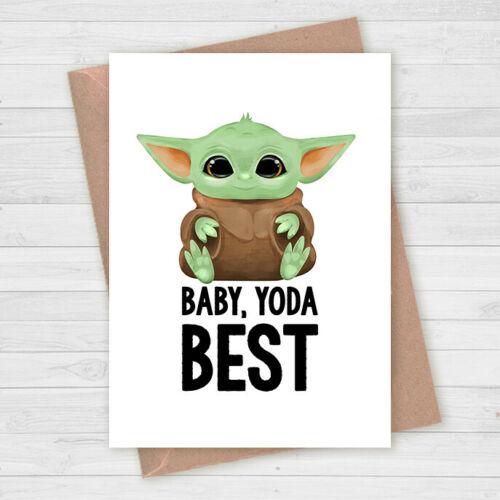 Baby Yoda Birthday Card Mandalorian Star Wars Greetings Card Geeky Birthday Ebay Birthday Cards Cards Greeting Cards