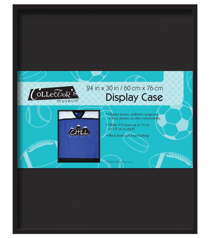 Mcs Industries Collector S Museum Display Case 24 X30 Black Display Case Museum Display Cases Museum Displays