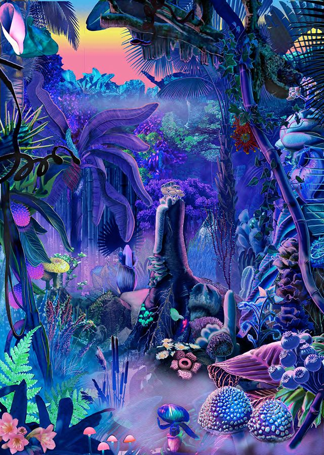 Neon Plasticine Paintings Are a Wild Welcome to the Jungle | Paisaje de  fantasía, Dibujos psicodélicos, Arte de collage